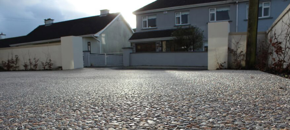 Exposed Aggregate Concrete pebbles driveway yard wexford